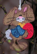 10402 Free standing lace Easter ornaments Set No2