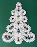 10446 Battenberg lace Christmas ornaments set No2