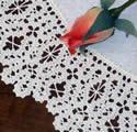 10460 Battenberg lace doily machine embroidery
