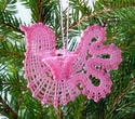 10477 Battenberg lace doves ornaments