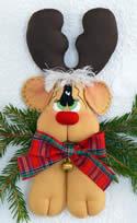 10494 Rudolf the Reindeer Christmas soft toy decoration