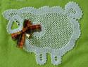 10554 Lamb Battenberg free standing lace