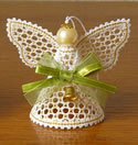 10561 Angel Battenberg lace Christmas ornament