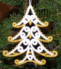 10562 Filigree free standing lace Christmas tree