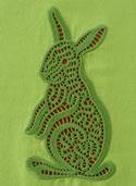 10603 Bunny lace machine embroidery design