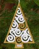10626 Christmas tree free standing lace ornament