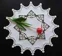 10629 Tulips free standing lace doily embroidery set