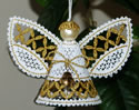10648 3D Christmas angel Battenberg lace machine embroidery
