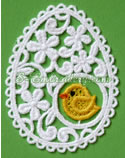 10657 Easter egg freestanding lace machine embroidery