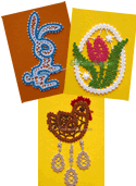 10659 Easter ornaments set - Battenberg lace