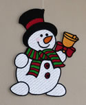 10666 Free standing lace Snowman Christmas ornament