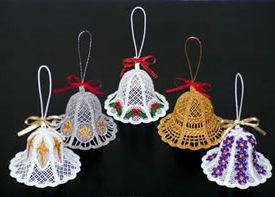 Free standing lace Christmas bells