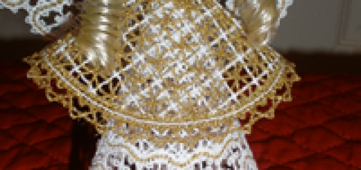 3D free standing lace Christmas angel