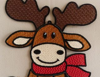 Reindeer Christmas embroidery