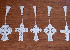 Easter cross free standing lace
